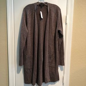 Ann Taylor Shimmer Open Front Cardigan Sweater NWT